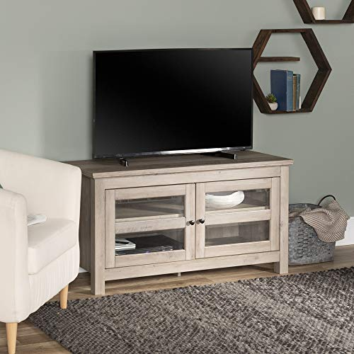 WE Furniture Simple Wood Universal Stand for TV's up to 50