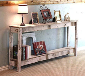 White Farmhouse 60 Inch Sofa Table