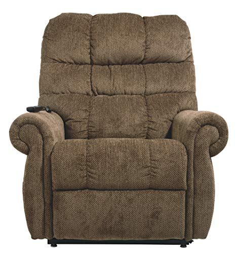 Signature Design by Ashley Ernestine Power Lift Recliner Truffle
