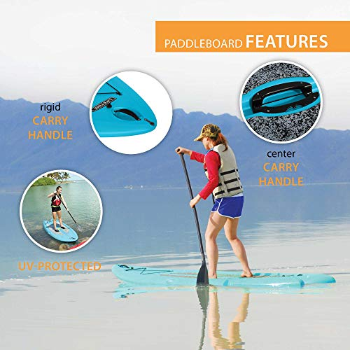 "Lifetime Freestyle Hard Shell Paddleboard with Paddle, 9'8""/X-Large, Glacier Blue"