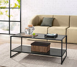 Zinus Troy Modern Studio Collection Deluxe Rectangular Coffee Table, Espresso