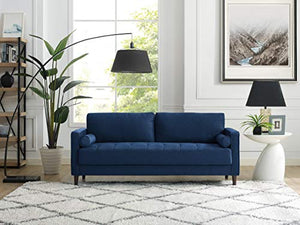 Lifestyle Solutions Lexington Sofa in Navy Blue