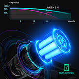 JASHEN V18 Cordless Vacuum Cleaner, 350W Power Strong Suction 2 LED Powered Brushes Cordless Stick Vacuum, Dual Charging Wall Mount for Carpet Hardwood Floor Rug Pet Hair