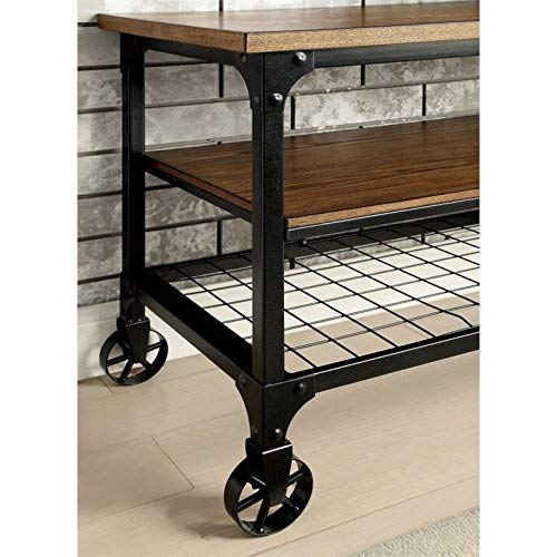 "HOMES: Inside + Out ioHOMES Engels Industrial 54"" TV Stand, Medium Oak"