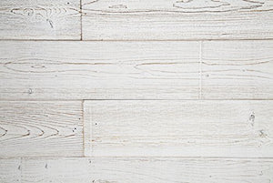WoodyWalls Peel and Stick Wood Panels (19.5 sq. ft. per box) White Washed