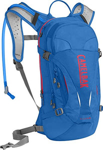 CamelBak L.U.X.E. Crux Reservoir Hydration Pack, Carve Blue/Fiery Coral, 3 L/100 oz