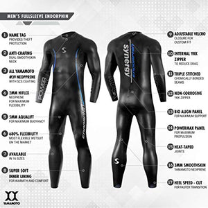 Synergy Endorphin Men's Full Sleeve Triathlon Wetsuit (L1 19)