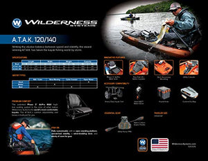 Wilderness Systems Atak 120 | Sit on Top Fishing Kayak | Premium Angler Kayak | 12' | Midnight