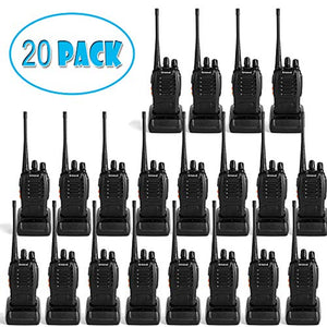 Greaval walkie talkies 20 Pack Rechargeable Two-Way Radios with Earpiece 16 Channel UHF 400-470MHz Charger Included(20 Pack)