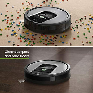 iRobot Roomba 960 Robot Vacuum- Wi-Fi Connected Mapping, Works with Alexa, Ideal for Pet Hair, Carpets, Hard Floors,Black