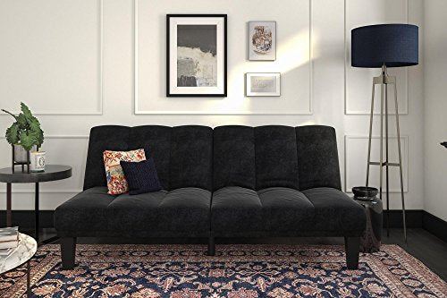 DHP Hamilton Sofa Sleeper, Black