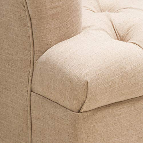 Christopher Knight Home Anastasia Tufted Chair, Beige