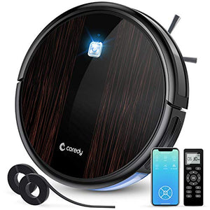 Coredy Upgraded R3500S Robot Vacuum Cleaner, 1700Pa Suction, Compatible with Wi-Fi Alexa, 2 Boundary Strips, Smart Self-Charging Robotic Vacuum, A Great House Helper for Cleaning Floor to Carpet