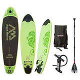 Jiur Inflatable Stand up Paddle Board, 9ft x 30in x 4.7in Ski Board Surf Board with Durable SUP Accessories & Carry Bag for All Skill Levels, Non-Slip Deck, Leash, Standing Boat for Youth & Adult