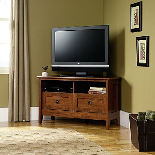 Sauder TV Stand for Flat Screens Entertainment Center Furniture Wood Corner Home 39 Inch Oak Modern with Drawers