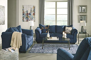 Signature Design by Ashley - Darcy Contemporary Loveseat, Blue