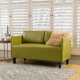 Christopher Knight Home Nile Green Bonded Leather Loveseat