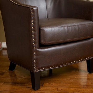 Christopher Knight Home 218706 Austin Bonded Leather Club Chair, Brown
