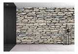 wall26 - Old Stone Wall Texture - Removable Wall Mural | Self-Adhesive Large Wallpaper - 100x144 inches