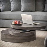 Christopher Knight Home Lenox Oval Mod Rotating Wood Coffee Table, Clear