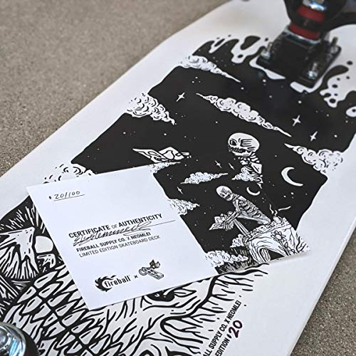 "Fireball Mini Cruiser Longboard Skateboard | Eli Klemmeck Limited Edition Artist Collaboration Series Hybrid Cruiser | 29.5"" Deck & Complete (Eli Klemmeck, Complete)"