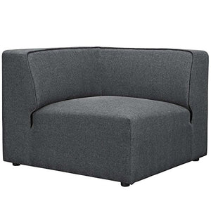 Modway Mingle Contemporary Modern 5-Piece Sectional Sofa Set in Gray