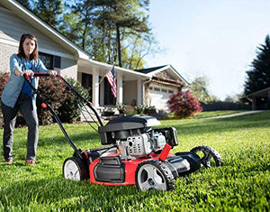 PowerSmart DB2321S Lawn Mower, Black and red