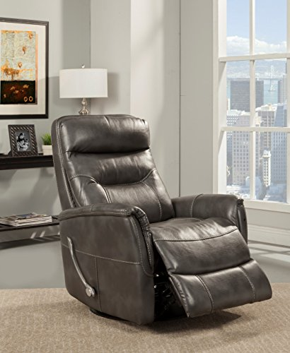 Oliver Pierce Colby Swivel Glider Recliner Gray