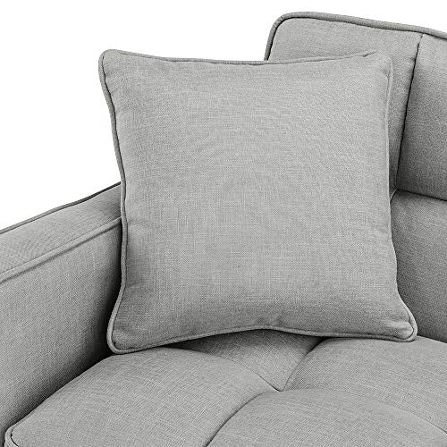 Divano Roma Furniture Modern Sofas, Light Grey