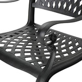 Christopher Knight Home Cayman Outdoor 6-Seater Cast Aluminum Dining Set, 7-Pcs Set, Black Sand