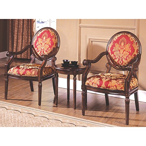 Best Master Furniture Maddison Traditional Living Room Accent Chair & Table Set, 24