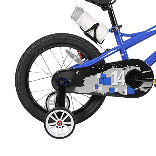 COEWSKE Kids Bike 14-16 Inch Bicycle with Training Wheels for Ages 3 to 7 Years Old Boys and Girls (14 Inch Blue Without Fender)
