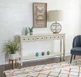 Powell Furniture Sadie Cream Long Storage Console Table, Multicolor