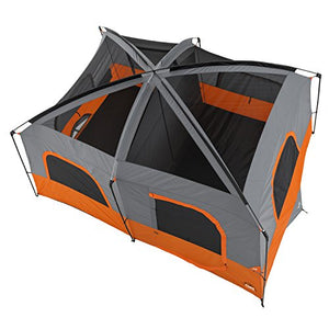 CORE 10 Person Straight Wall Cabin Tent (Orange)