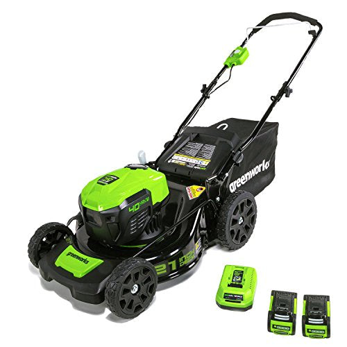 Greenworks MO40L2512 Electric Brushless Lawn Mower, 21-Inch