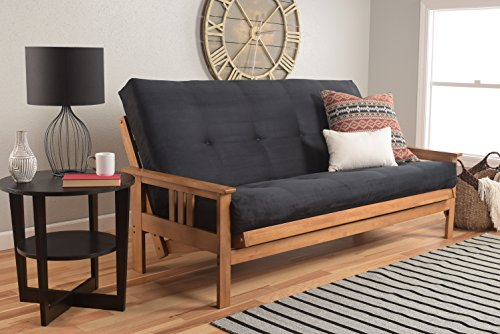 Kodiak Furniture Monterey Queen Size Futon Set, Suede Black