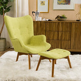 Christopher Knight Home Hariata Fabric Contour Chair Set, Muted Green