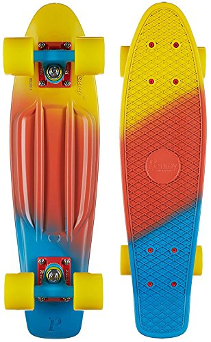Penny Fade Complete Skateboard, Canary, 22