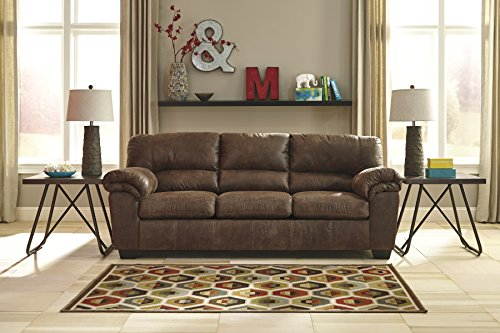Signature Design by Ashley - Bladen Contemporary Plush Upholstered Sofa, Coffee Brown