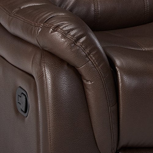 Christopher Knight Home Merit Faux Leather Glider Recliner Club Chair, Brown