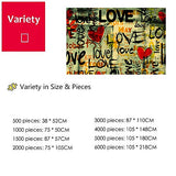 JW-MZPT Wooden Puzzles, Lover Gift Classic Home Decoration, DIY Assembled Graffiti Painting,5000pieces