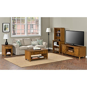 Ameriwood Home San Antonio Veneer Wood TV Stand, Tuscany Oak