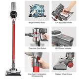 OUNUO Cordless Stick Vacuum Cleaner with Extra Brush, Portable Lightweight 3 in 1 Cordless Vacuum with 9000Pa Suction for Floor Carpet Laminate Tile Cleaning (C19)