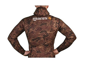 Mares Pure Instinct 7mm Spearfishing Freediving Wetsuit Jacket, Brown Camo, S2 Small