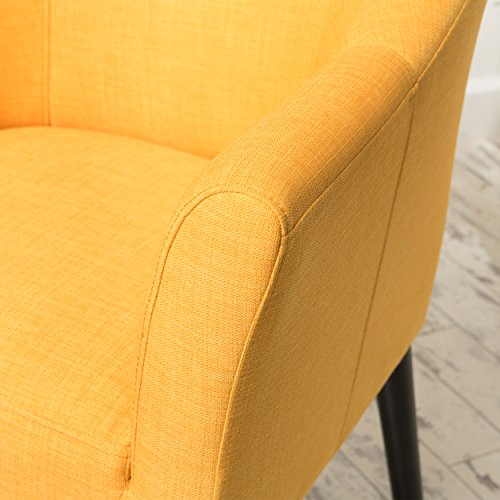 Christopher Knight Home Cosette Fabric Arm Chair, Orange
