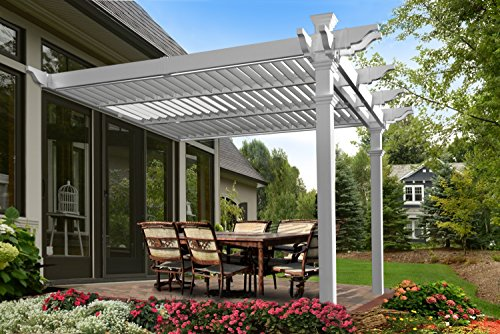 Elysium 12' x 12 'Attached Louvered Pergola