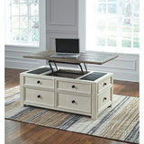 Signature Design by Ashley Bolanburg Lift Top Coffee Table, Two-tone (Off-White/Brown)