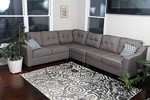 Oliver Smith Sectional Sofa, Brown Grey