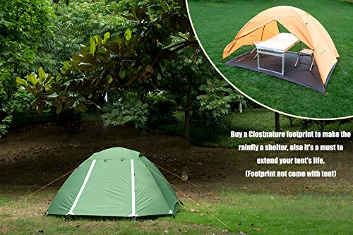 Clostnature Lightweight 2-Person Backpacking Tent - 3 Season Ultralight Waterproof Camping Tent, Large Size Easy Setup Tent for Family, Outdoor, Hiking and Mountaineering