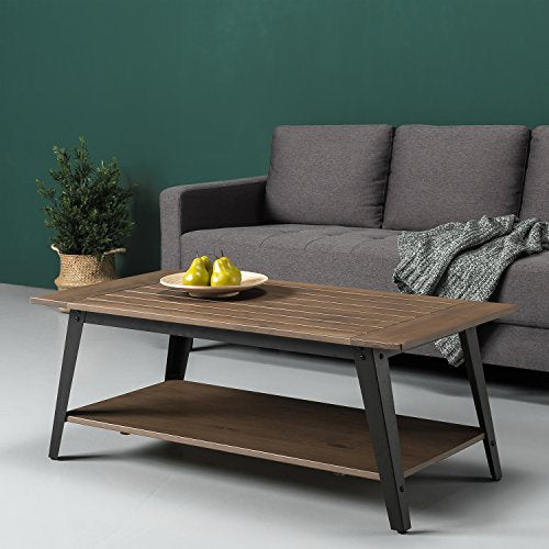 Zinus Woodrow Wood and Metal Coffee Table